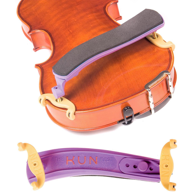 Kun Original Mini Purple Shoulder Rest for 1/8 - 1/4 Violin BHBU0503A559