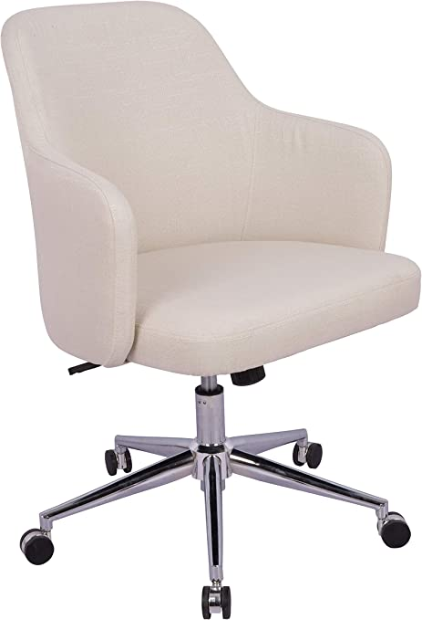 Amazon Basics Classic Adjustable Swivel Office Desk Chair With Casters And Twill Fabric Beige Furniture Decor