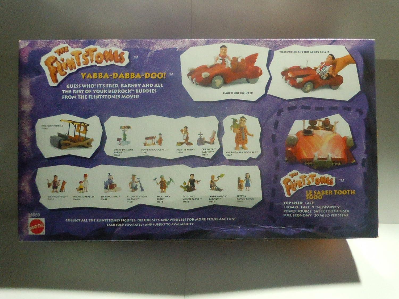 The Flintstones Le Saber Tooth 5000 Action Figure Car 1993 Mattel