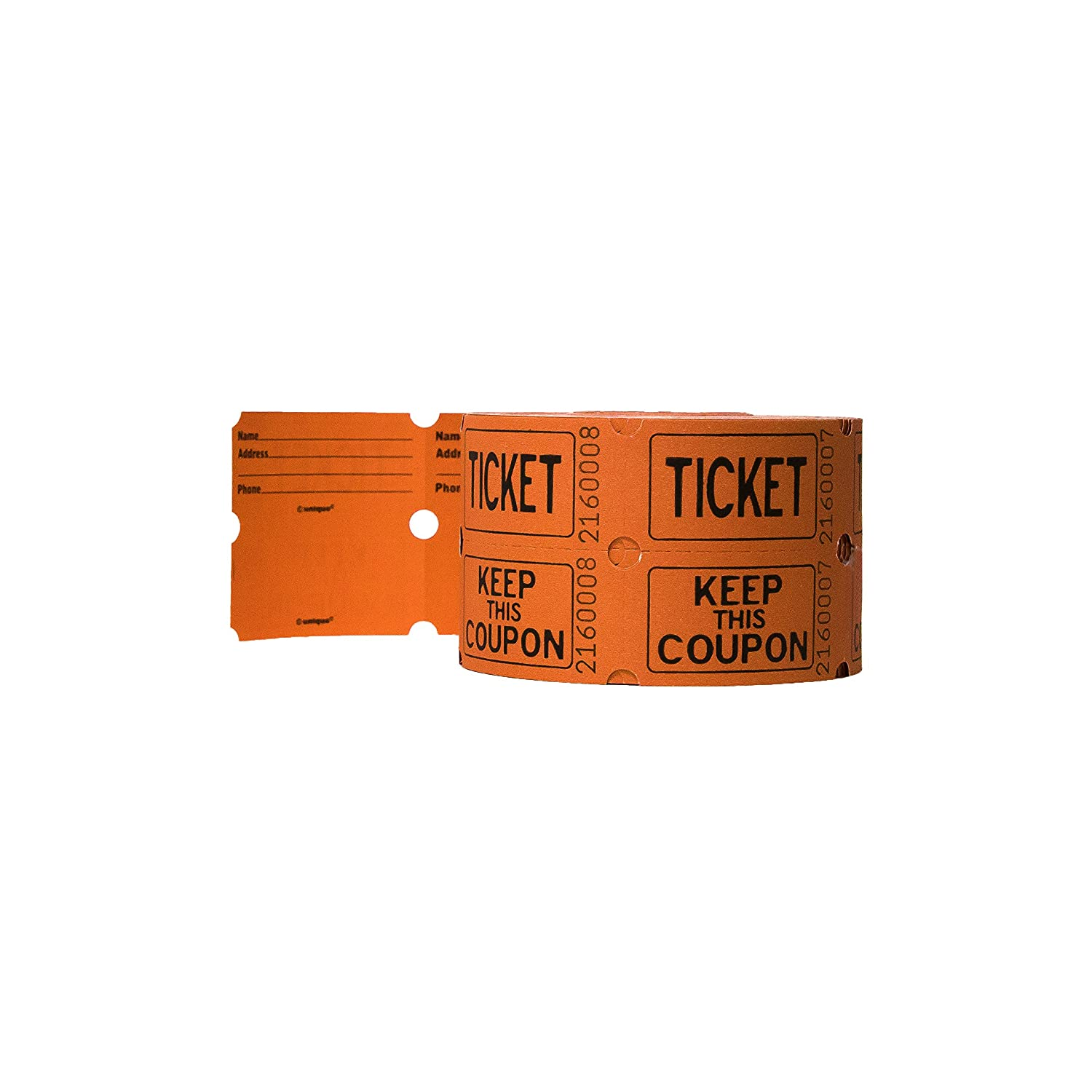 Amazon.com: Double Roll of Raffle Tickets, 500ct (Colors May Vary ...