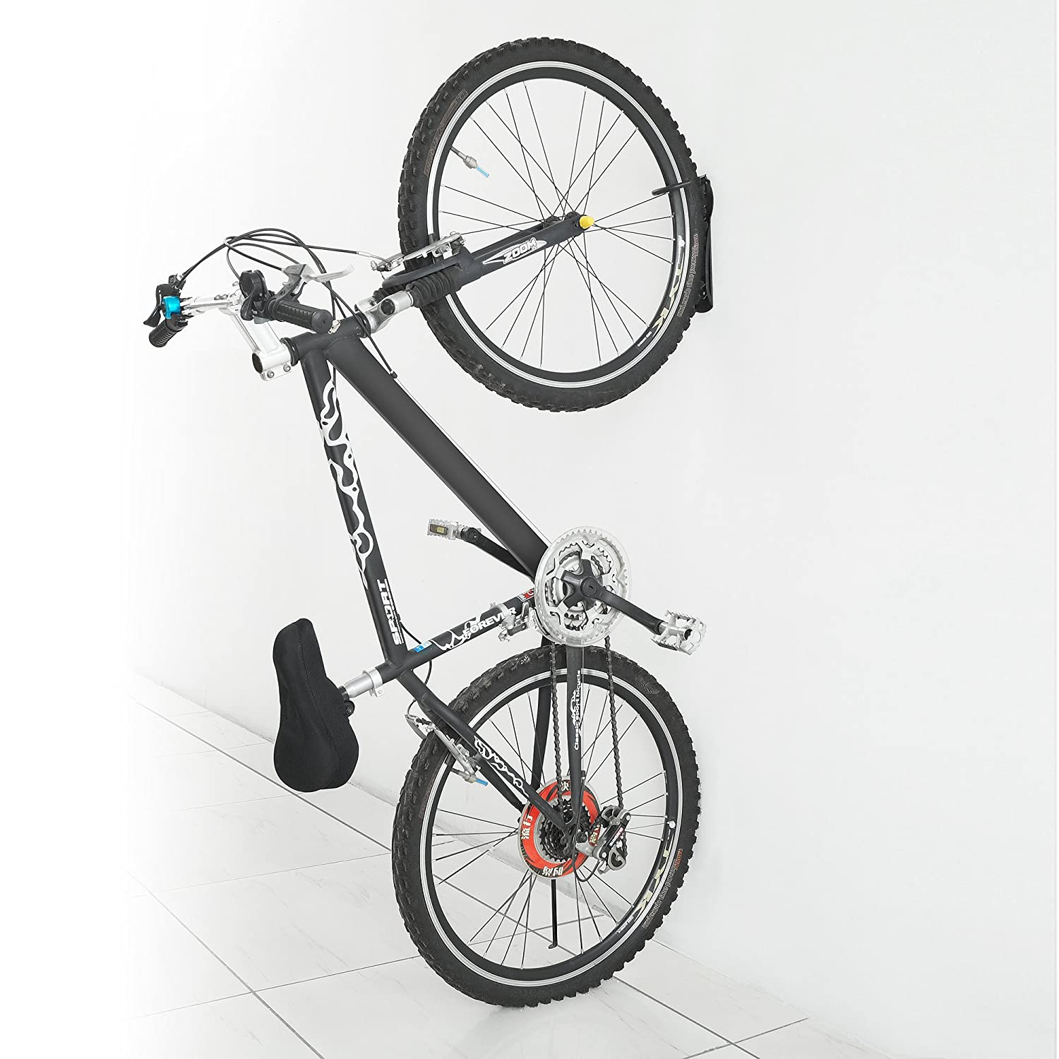 ceiling rack rubbed a bike floor stability signature and conserves provides with kits other pin capacity o lbs to for oakrak bikes space accessory add on mounted hand up plus excellent series finished
