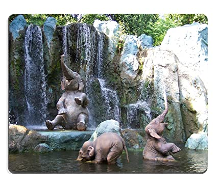 amazon com wknoon gaming mouse pad custom cute baby elephants