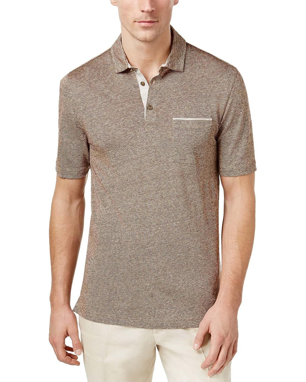 Tasso Elba Mens Linen Pique Polo Shirt At Amazon Mens Clothing Store