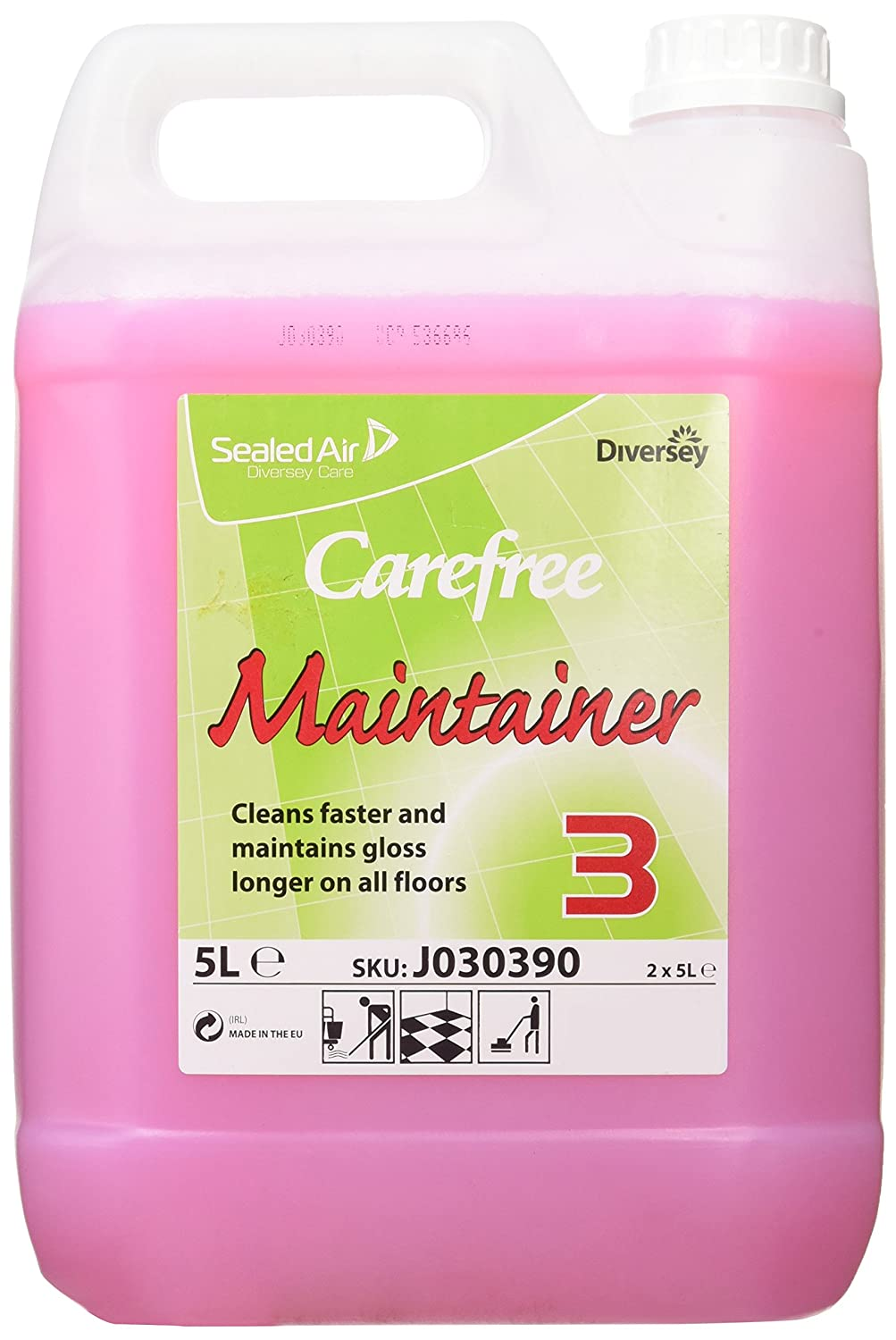 Diversey Carefree Floor Maintainer, advanced formula, renovates polished floors, 5L (pack of 2) J030390