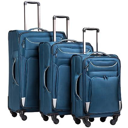 Amazon.com: Coolife - Juego de 3 maletas con funda giratoria ...