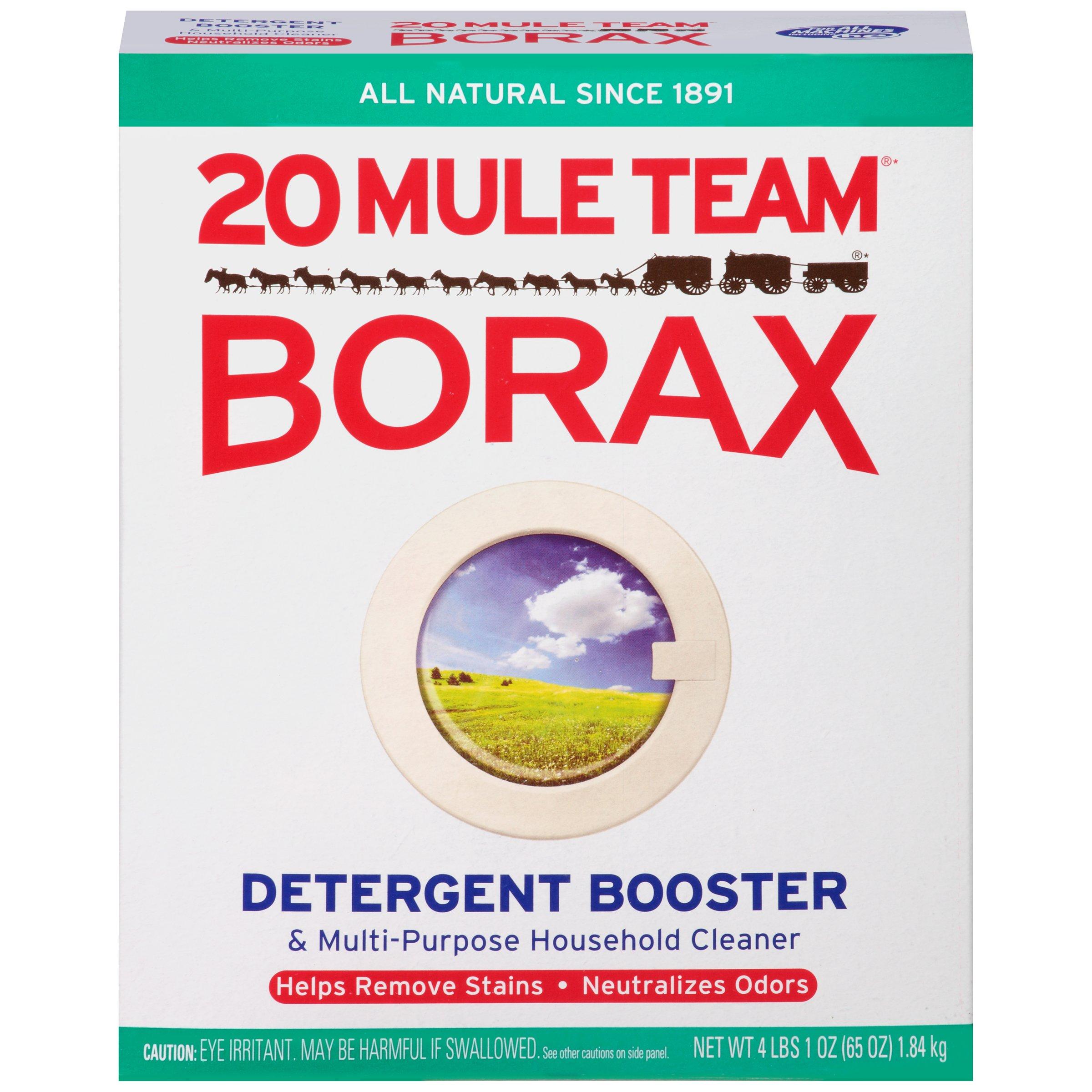 Borax 20 Mule Team Detergent Booster & Multi-Purpose Household Cleaner Box, 65 Oz (1)