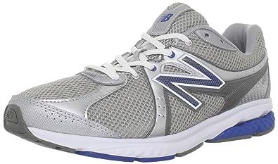 f07475eb82b04 New Balance Men's MW665 Fitness Walking Shoe,Silver/Blue,7.5 2E US