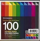 100feuilles de papier origami coloré double face