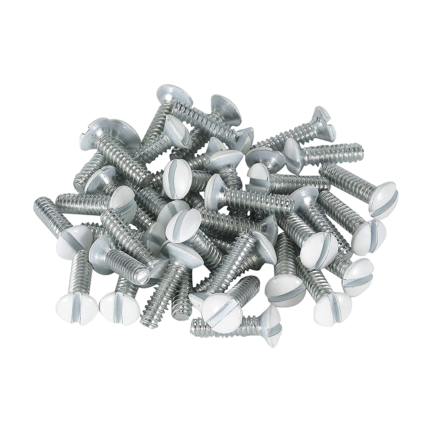 Bates- Wall Plate Screws, 75 Pcs, Assorted Size, Outlet Screws, Wall Plate Screws White, Outlet Cover Screws White, Long Electrical Outlet Screws, Electrical Screw, Outlet Plate Screws