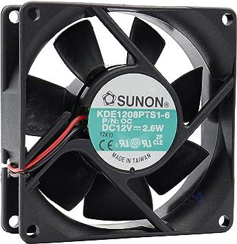Sunon KDE1208PTS1-6 - Ventilador de 80 mm, 80 x 80 x 25 mm, 12 V ...