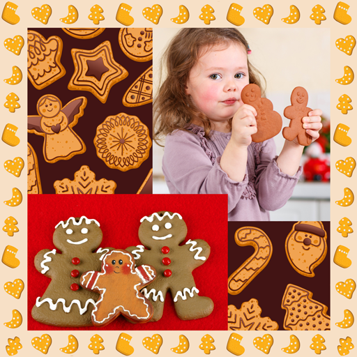 Gingerbread Man Games (Gingerbread Photo Collage)