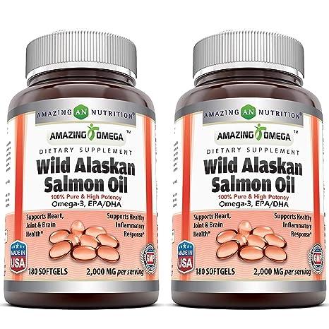 Amazon.com: Amazing Omega Wild Alaskan Salmon Oil - 1000 mg ...