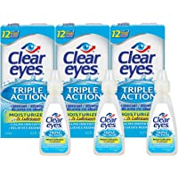 3-Pack Clear Eyes Triple Action Lubricant Eye Drops 0.5-oz.