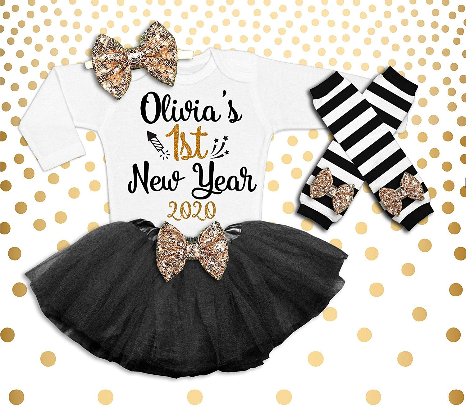 Amazon Com New Year S Outfit Baby Girl 1st New Year S Outfit New Year S Tutu 1st New Years Shirt Baby Girl New Years It S My 1st New Year Outfit Handmade