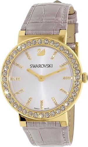 Swarovski de la Mujer citra 5045598 Oro Piel Swiss Reloj de Cuarzo: Swarovski: Amazon.es: Relojes