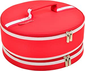 "Picnic at Ascot Original Pie and Cake Carrier 12"" Diameter- Designed & Quality Approved in the USA"