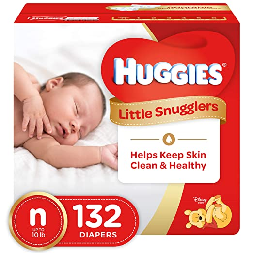 Huggies Little Snugglers Baby Diapers Disposable, Size Newborn, (192 Count (6 Packs x 32))