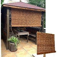 L-DREAM Bamboe-schaduwen voor ramen, buiten bamboe-rolgordijnen, koel, privacy, voor keukengordijnen, tuin, houten…