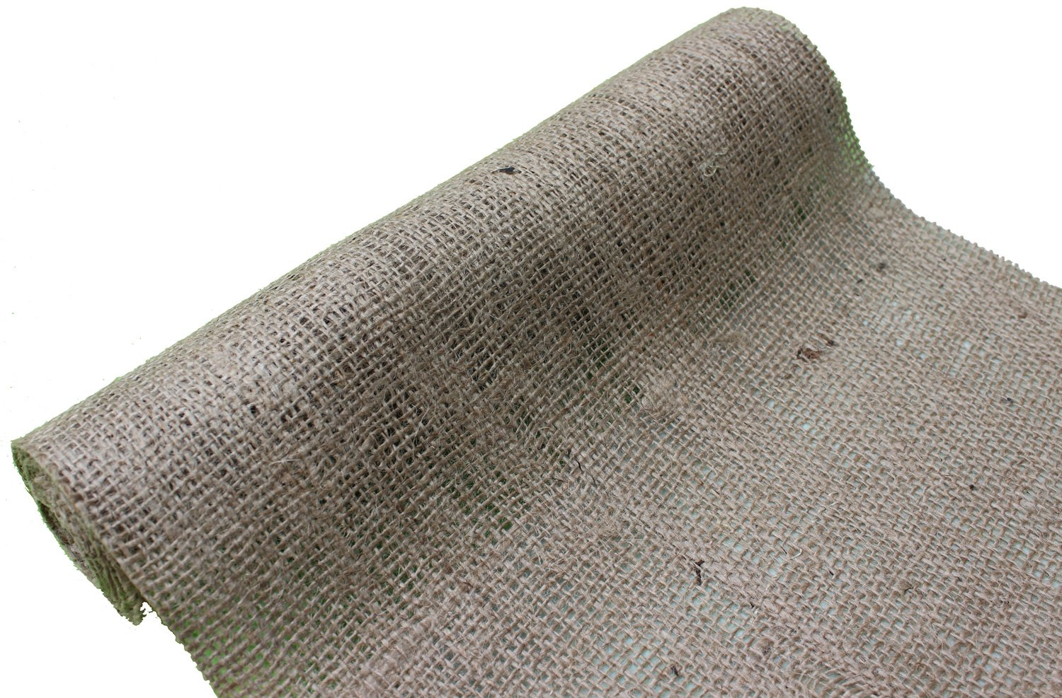Burlapper Burlap, 12'' x 108'', 100% Natural 12 oz Jute Fabric
