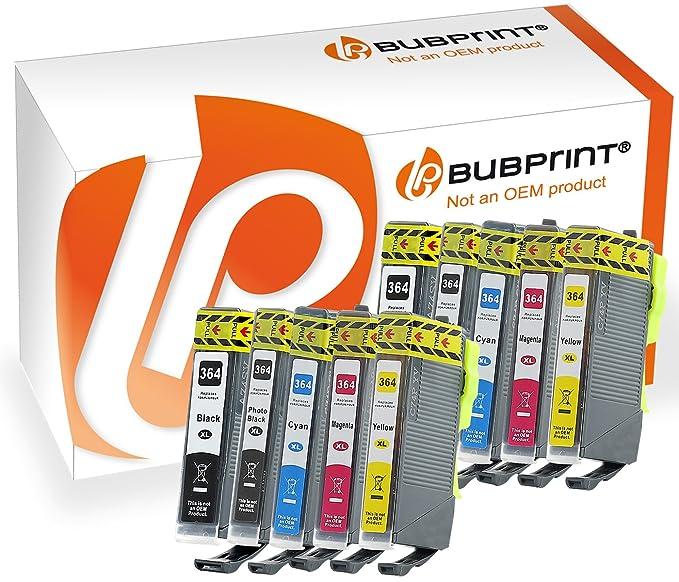 Bubprint 10 Druckerpatronen kompatibel für HP 364XL 364 XL für PhotoSmart 7510 7520 e-All-in-One B8550 C5380 C6380 D5460 Prem