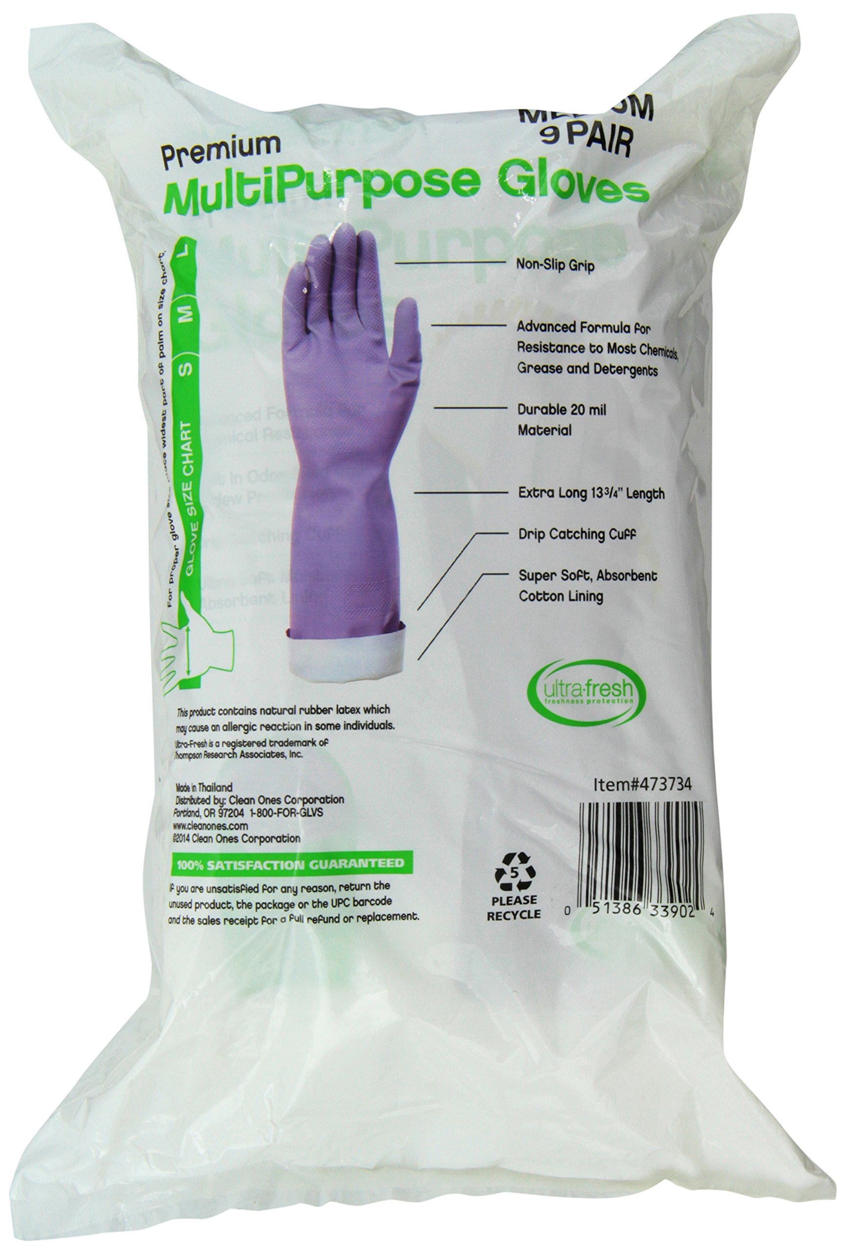 Clean Ones Premium Multi Purpose Non Slip Gloves, 9 Count (Medium) by Clean Ones