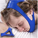 Tresalto Adjustable Stop Snoring Chin Strap (Blue)