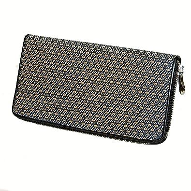 5ba87654e7d8 Amazon | 【印伝】ラウンド財布 紺地白漆瓢箪柄 | 財布