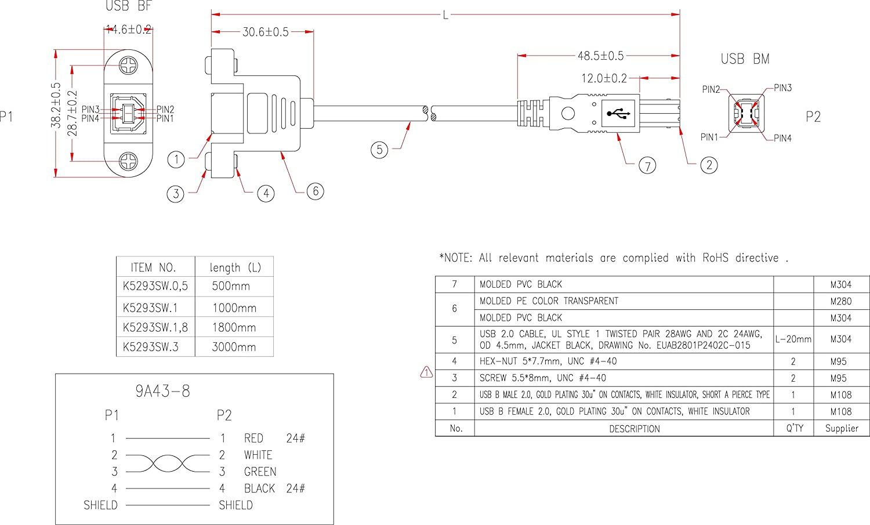 Kab24® USB Verlängerungskabel A Stecker auf A: Amazon.de: Computer ...