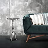 Aluminum Decorative Tray Table (DH8043)| Round Side end Table | Coffee Accent Tray Table | Metal Accent Side end Table for In