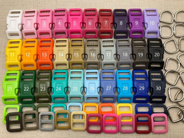 Other option FidgetGear 30 Sets, 5 8'' (16mm)Dog Collar Hardware Kits, Super Strong Buckle Other Option