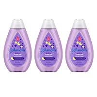 Johnson's Bedtime Baby Bubble Bath with NaturalCalm Aromas, Hypoallergenic and Sulfate-Free Nighttime Bubble Bath, 13.6 fl. oz, Pack of 3