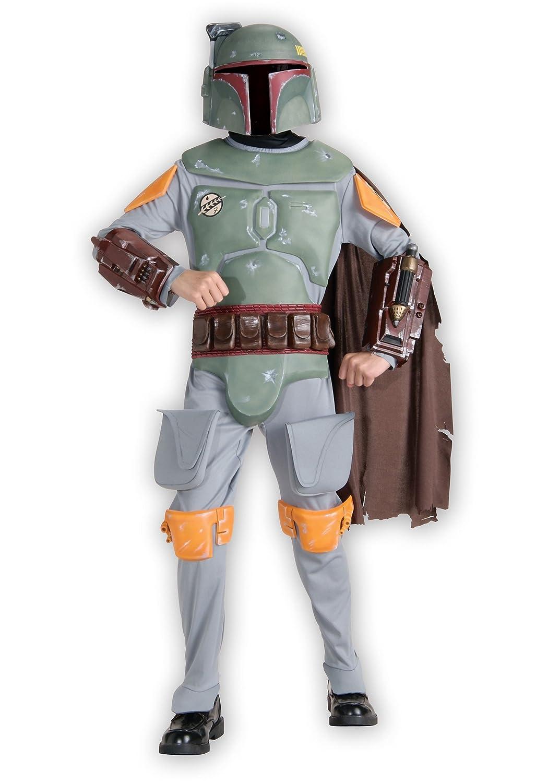 Kids Deluxe Boba Fett Fancy dress costume Small