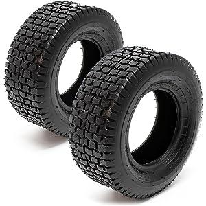 Set 2x cubiertas ruedas tractor cortacésped 13x5.00-6 Ruedas segadora  jardín Accesorios jardinería 24164757d7b9f