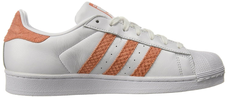 adidas Originals Women's Superstar W Fashion Sneaker White/Lab Blue, 9 Fashion M US B071Z7BWH7 Fashion 9 Sneakers c5e137