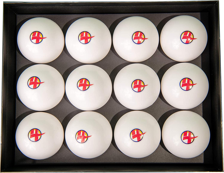 4Winners フィールドホッケー マッチ/練習用 スムース 12個パック ボール (ホワイト)