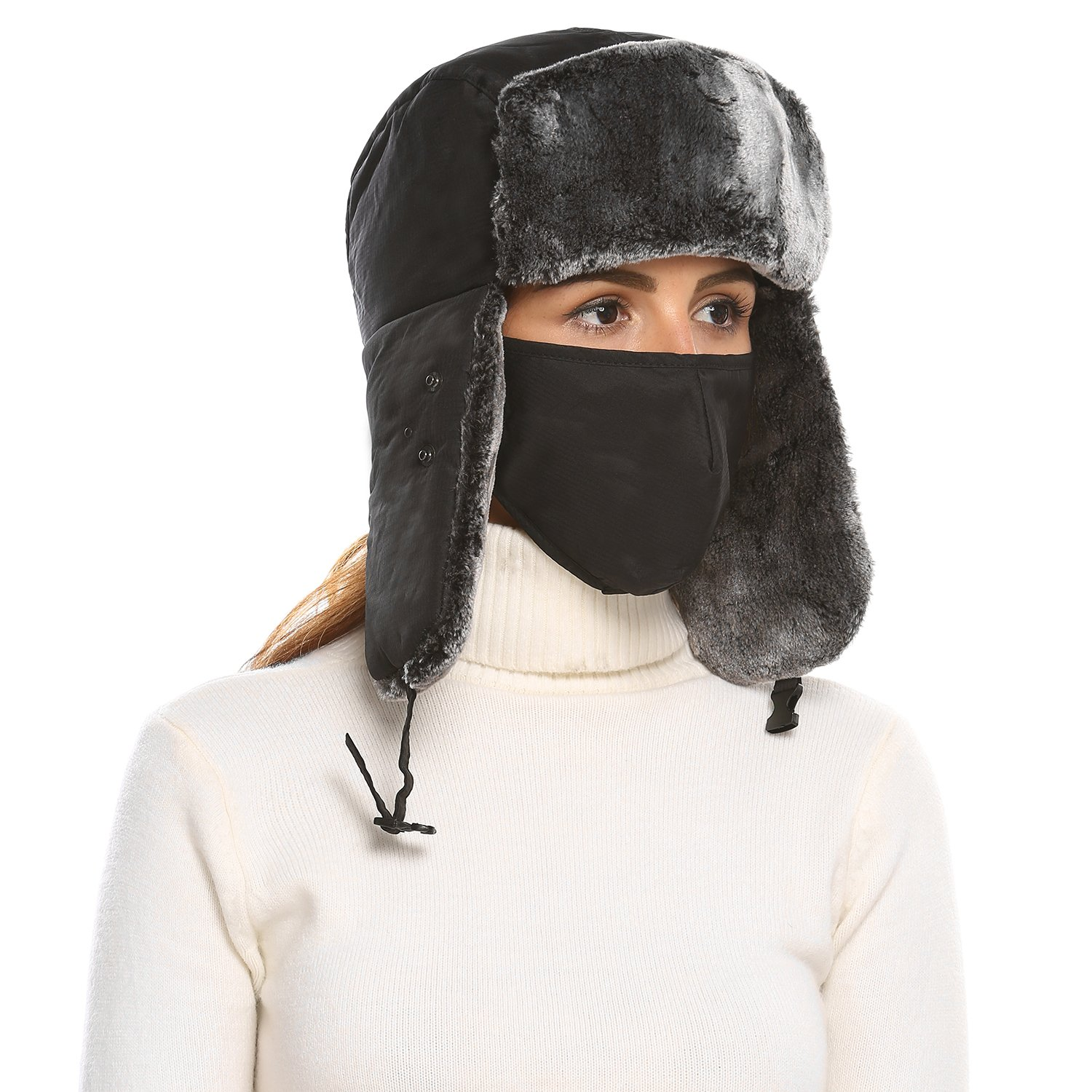 c962948f22b Shine Unisex Winter Trapper Trooper Russian Hat with Windproof Mask product  image