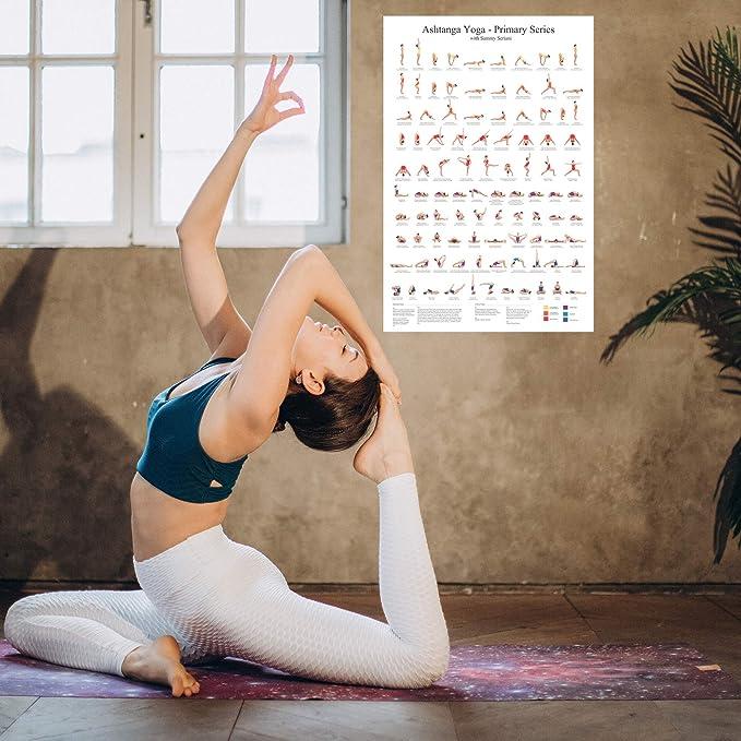 dormitorio pintura 20 x 30 cm P/óster retro de yoga Ashtanga Vinyasa Yoga Primary Series P/óster decorativo lienzo de pared arte de sala de estar