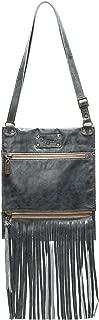product image for Blue Leather Italian Fringe Handbag