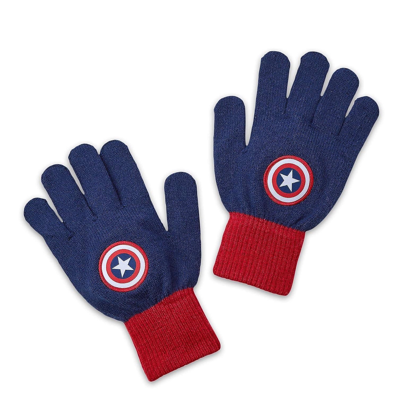 Marvel Captain America Knit Gloves for Kids Blue Disney 27500572214664000391