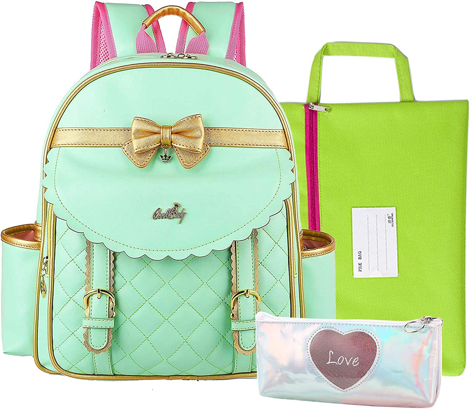 Watercolor Art Princess Toddler Backpack Bookbag Mini Shoulder Bag for 1-6 Years Travel Boys Girls Kids with Chest Strap Clip Whistle