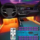 Govee Interior Car Lights, Interior Car LED Lights with Remote and Control Box, Two-Line Design RGB Car Interior Light…