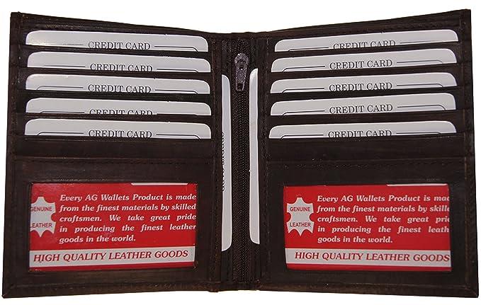 efcf987c3cc8 AG Wallets Men's Leather European Bifold Wallet Slim Hipster 2 ...