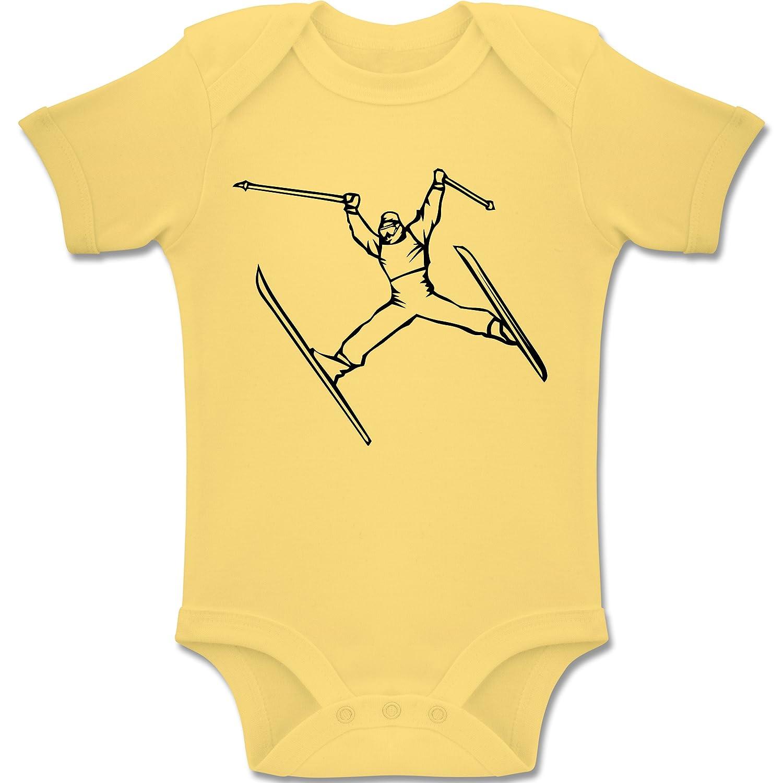 Sport Baby - Ski Jump - Kurzarm Baby-Strampler / Body für Jungen und Mädchen