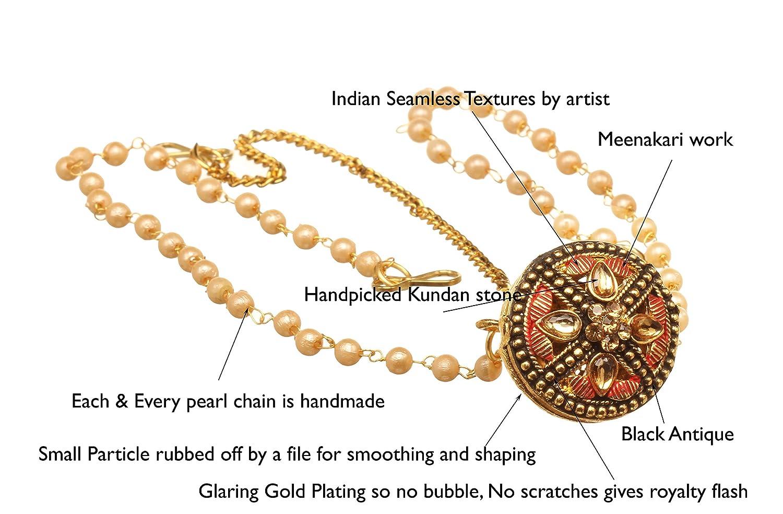 Hair Head Jewellery Latest Pakistani Matha Patti Pearl Stone