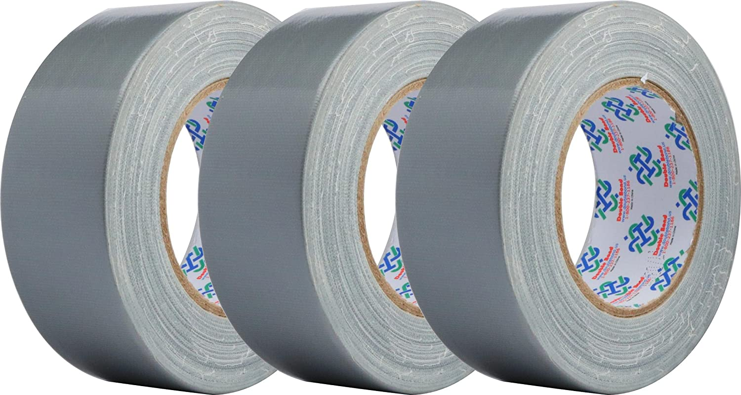 Double Bond Professional Grade Duct Tape 6353, Silver, 48mm x 32m (1.88 Inch x 35 Yards), 11mil Thick (Pack of 3)