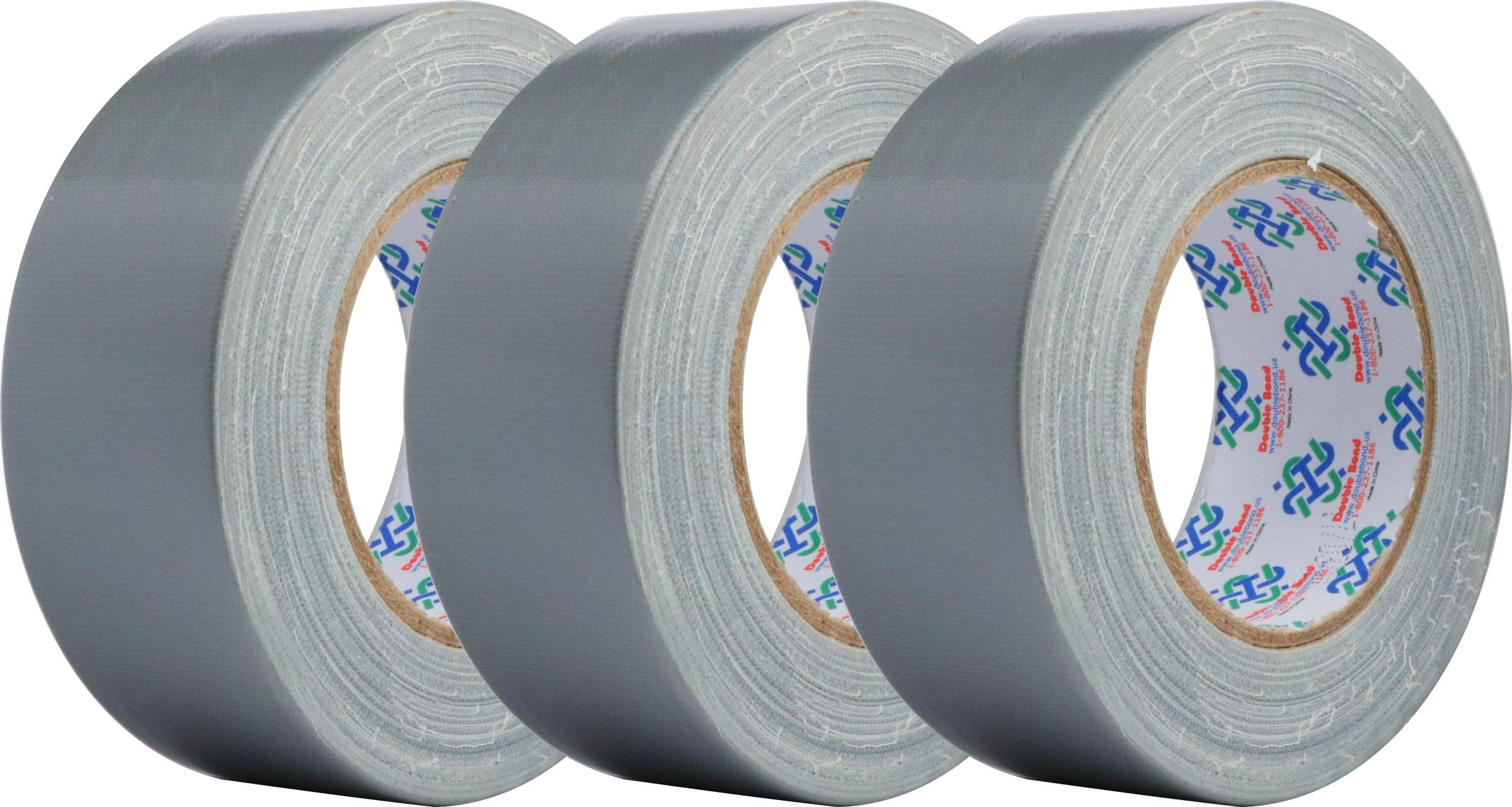 Double Bond Real Thick (11Mil) and Strong Duct Tape 6353, Silver, 48mm x 32m (1.88 Inch x 35 Yards), 11mil Thick (Pack of 3)