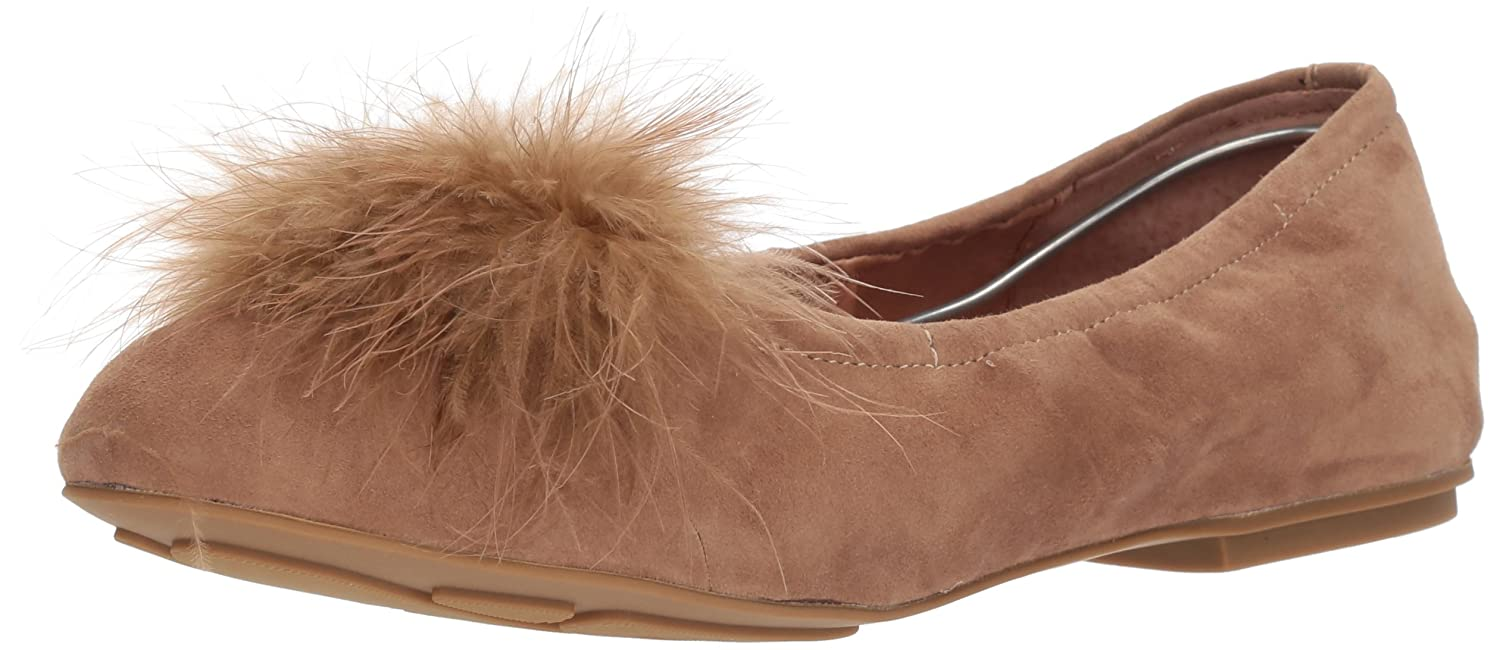 Gentle Souls Women's Portia Feather Pom Ballet Flat B076TZKDF2 9.5 B(M) US|Camel