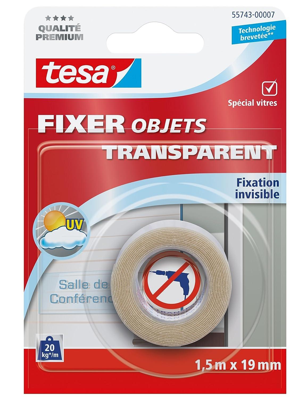 Tesa 55744-00006-00 Fixer Objets Transparents 5 m x 19 mm