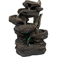 Best Indoor Fountain Amazon best sellers best tabletop fountains best choice products home indoor 6 tier tabletop fountain waterfall with multicolor led lights workwithnaturefo