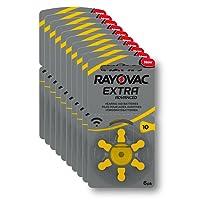 Rayovac Extra Advanced Batterie Acustiche Zinco Aria, Formato 10 Value Pack da 60 Batterie, Giallo
